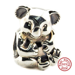 2016 Koala Silver Charm 100% 925 Sterling Silver Bead Fit Pandora Fashion Jewelry DIY Charm Brand