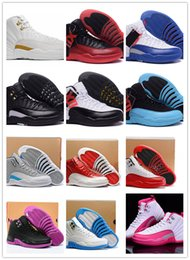 Wholesale 2016 retro mans basketball shoes taxi ovo white wolf grey cherry Flu game French Blue The master Barons Gym Red sneakers