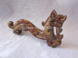 Wholesale Rare Old Oriental Vintage Natural Hetian Jade Hand Carved Beast Lucky Figurine