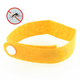 Wholesale Anti Mosquito Bug Repellent Wrist Band Bracelet Insect Nets Bug Lock Camping Colors