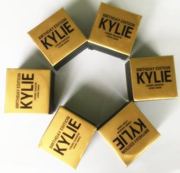 Wholesale in stock Kylie Jenner Kit birthday Edition eye shadow eyeshadow cream Kyshadow Cosmetics eyebrow powder brand naked makeup copper rose gold