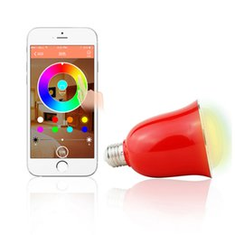 Wholesale UNIFISH Hlight D01 Smart Speaker E27 E26 Bulb Bluetooth App Remote Control Intelligent Timer RGB Light Home Appliance