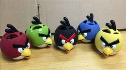 Wholesale Angry Birds Subwoofers Cartoon Mini Portable Music Player Birds Children Speaker Card U Disk Radio Portable Audio Player