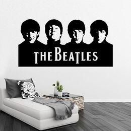 Retail Sample Beatles Wall Art Decals Vinyl Wall Stickers Home Decor Wall Decor Free Ship 29X57CM