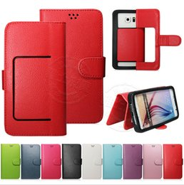 Universal Wallet PU Flip Leather Case Stand Holder Card Pocket Cases Shockproof Cover For iphone 4 5 se 6 6s 7 plus samsung note7 s7 s6 edge
