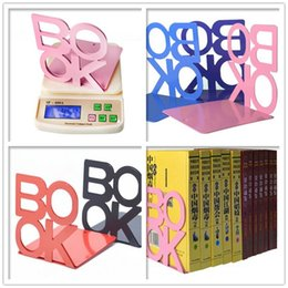 Wholesale 45set set Modern Metal L Shaped Bookend Anti skid Shelf Book Case Holder Home Office Store Stationery Home Decoration ZA0593