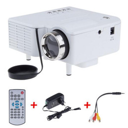 Wholesale Lcd Projector Build Hdmi - UC28 Mini LED Digital Video Game Projectors Multimedia player Inputs AV VGA USB SD HDMI proyector Built-in Speaker data show Hot