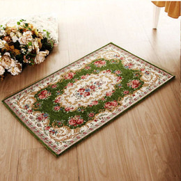 European style Home textile carpet   Rugs sitting room tea table bedroom bed mat carpet floor   door mat