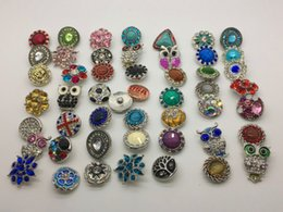 18MM Snap Button Metal Rhinestone High Qualit Mixed Style Snap Chunk Diy Jewelry Fit For Noosa Snap Chunk Button Charm Bracelet