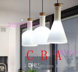 Wholesale 3 lamps as an unit Modern Benjamin Hubert Labware Pendant Lamp Reproduction Lamp glass pendant light magic bottle