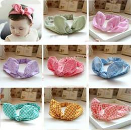 TOP BABY Girls Hair Ornaments Baby Rabbit ear Headbands Childrens Hair Accessories 9 Designs hair hoop with big bow kids sticks