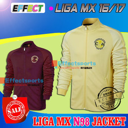 Wholesale 2016 LIGA MX Mexico CLUB AMERICA Years HOME YELLOW AWAY Red JACKET Soccer Jerseys Maillot de foot tracksuits N98 football shirts