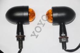 Universal Black Mini Bullet Motorcycle LED Turn Signal Light Turn Blinker Amber Light
