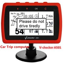 Wholesale 2016 Best Price for Multi Functional V CHECKER V Checker A501 Car Trip Computer OBD2 Car Tool With