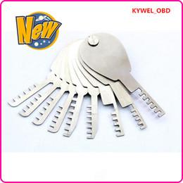 New Arrival HUK 9 pcs Auto Foldable Scissors deft Car Lock Opener folding comb locksmith tools Lock Pick,Locksmith tools