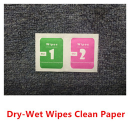 Wholesale Dry Wet Wipes For Mobile Phone LCD Screen Clear Tempered Glass Protector Film Alcohol Cleaning Cloths