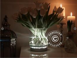 Super Bright 31pcs White  Warm white LED Light Silver Base for UP-lighting Under Flower Vase 1 Piece Lot Free Shipping
