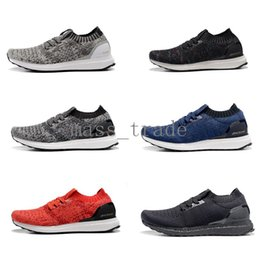Wholesale new Mens Ultra Boost sock Uncaged running shoes in Red White Blue Red Black Gold and Coffee in top quality at cheap price
