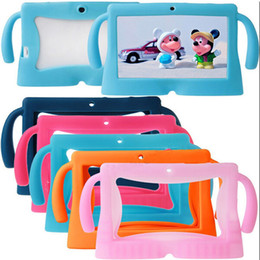Wholesale kawaii Big Ears Series Colors Safety Soft Silicone Gel Cover Case for Q88 universal for Inch Kids Children e Books Tablet PC