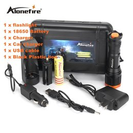 Alonefire SK80 led flashlight zoom CREE T6 waterproof lanterna led zoomable torch for 18650 Rechargeable Battery