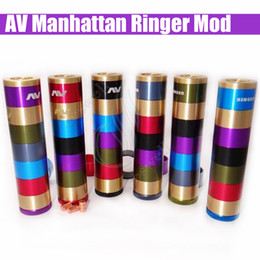 Cobre vaporizador mod en Línea-2016 vaporizador AV Manhattan Ringer Ringer mod mecánica Mod 24 mm de diámetro con flotante de contacto de cobre pasador VSAV ABLE mod MOD cronometrador