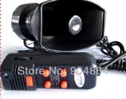 Wholesale 100W Annunciator police siren in1 Tone car Siren megaphone with MIC Car speaker Loudspeaker AlarmMicrophone for PA system