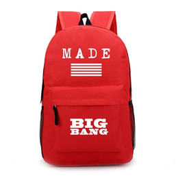 Made bigbang backpacks school bags boys girls hign school designer backpacks kids jansport bigbang bags canvas bookbag