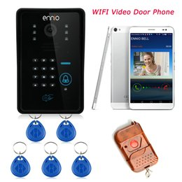 H.264 720P Wifi Doorbell Wireless Video Intercom Mobile Smart Phone Control IP Door Phone Connect To IOS And Andriod Top Quality
