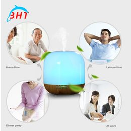Wholesale Free DHL V Steam Humidifier Air Purifier Aroma Diffuser Quiet W Essential Oil Diffuser Aromatherapy LED Night Light Color Changing
