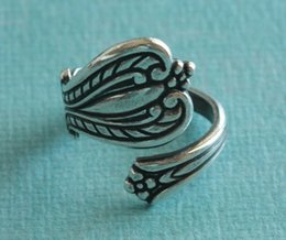 New Hot Fashion Top Quality Antiqued Silver antiqued brass Spoon Ring Finding Free Shipping