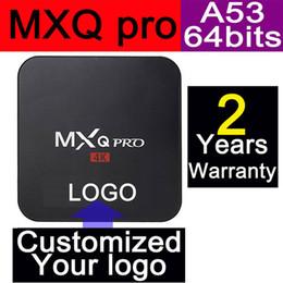 Wholesale Customized years warranty Google Smart Android TV box Boxes IPTV MXQ MXQpro Kodi Blackbox Amlogic S905 S905X Quad Core Nobile Style