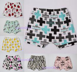Wholesale 7 Design INS Baby Shorts Fashion baby toddlers pants Children animal fox geometric figure Pattern pants shorts Leggings