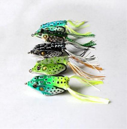 Wholesale 50Pcs New Style Soft Toad Frogs Bass Fishing Lure Soft Plastic Hollow Fishing Lure Crankbait Hooks