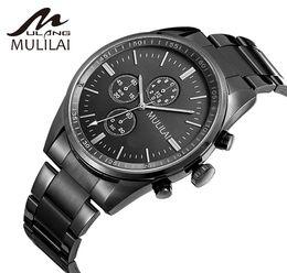 All Subdials work men's or ladies watch steel quartz watch stroller luxury watch top brand mulilai men relojes best gift