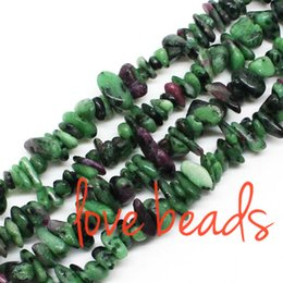 5-8mm Natural Irregular Green Red Tourmaline Gravel Stone Chips Beads 80cm Strand wholesale(F00324) wholesale