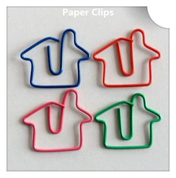 200Pcs Lovely House Modeling Paper Clips Creative Bookmark Memo Clip Stationery for Office School Home Use Xmas Gift