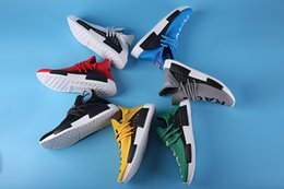 Wholesale Cheap Fashion NMD Human Race Runner Boost Running Shoes Best Quality Trainers Hu race For Men Women Sport Shoes Sneaker US5