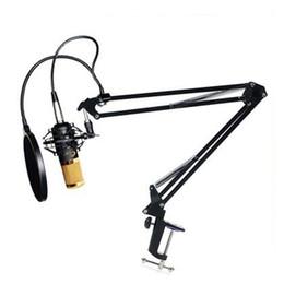BM800 Condenser Microphone Cardioid Pro Audio Studio Vocal Recording Mic Long Metal Shock Mount 4 Pieces a Set