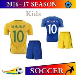Wholesale New Brazil kids soccer jersey NEYMAR JR home away T SILVA OSCAR D COSTA DAVID LUIZ Brazil children football shirt soccer jersey