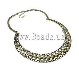 Wholesale Zinc Alloy Jewelry Necklace Gothic with Iron zinc alloy lobster clasp antique bronze color plated nickel