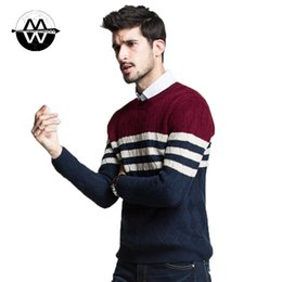 Wholesale-Man fashion long sleeve striped sweater,male different color sweater,pullovers sweater 30
