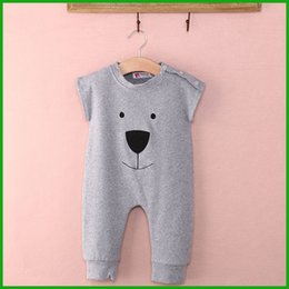 Wholesale 2016 New Arrival Bear Baby Rompers Jumpsuits Children Winter Spring chothing playsuit outfit cute lovely style toddler chothes