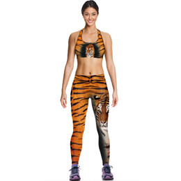 Wholesale Tiger Camisoles Fashion Yellow Leopard Tanks Shirts Running Singlet Vest Print Tiger Camisole Gym Sports Tank Tops Digital Print Sleeveless