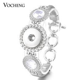 VOCHENG NOOSA Ginger Snap Alloy Bracelet Inlaid Crystal Toggle-clasps 18mm Button Women Jewelry NN-508