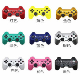 Wholesale PS3 Wireless Bluetooth Game Controller for PlayStation PS3 Game Multicolor Controller Joystick For Android Video Games With Packaging