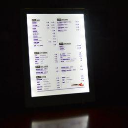 Bar hotel A4 iluminar led titular del menú Ultrathin titular de menú LED de luz de ahorro de energía, de alta definición tienda de mesa LED cheap high tents desde altos tiendas de campaña proveedores