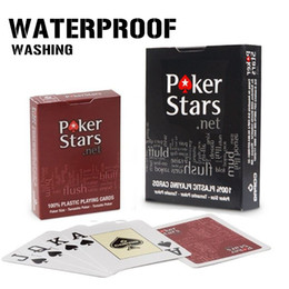 Wholesale 2 pack Plastic playing card game Texas Holdem poker cards Waterproof and dull polish poker star zakka Board games