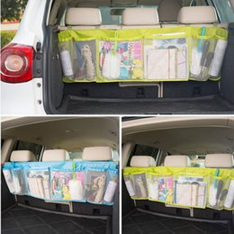 Wholesale Auto Multifunctional Foldable Car Organizer Boot Trash Hanging Storage Bags for Car Seat Capacity Storage Pouch CIA_604