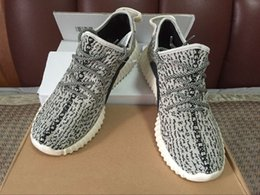 Wholesale Double box shopping bag turtle dove Boost wide version Factory grey Kanye Shoes Boost pirate black running shoes size