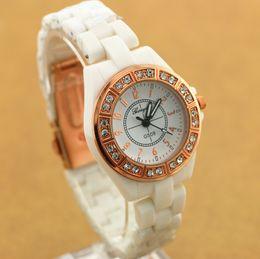 Free shipping!copy ceramic belt,ceramic alloy round case with crystal deco,quartz movement,gerryda fashion woman lady ceramic watches,509